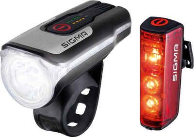 SIGMA SPORT Fahrradbeleuchtung »AURA 80 USB / BLAZE Kpmplett Set«
