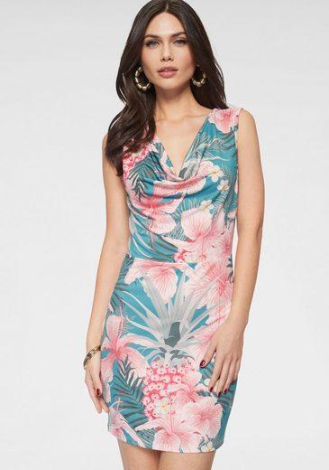 Melrose Jerseykleid mit Hibiskus-Print