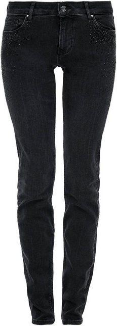 Hosen - s.Oliver Slim fit Jeans mit tollen Glitzersteinen im Taschenbereich vorn ›  - Onlineshop OTTO