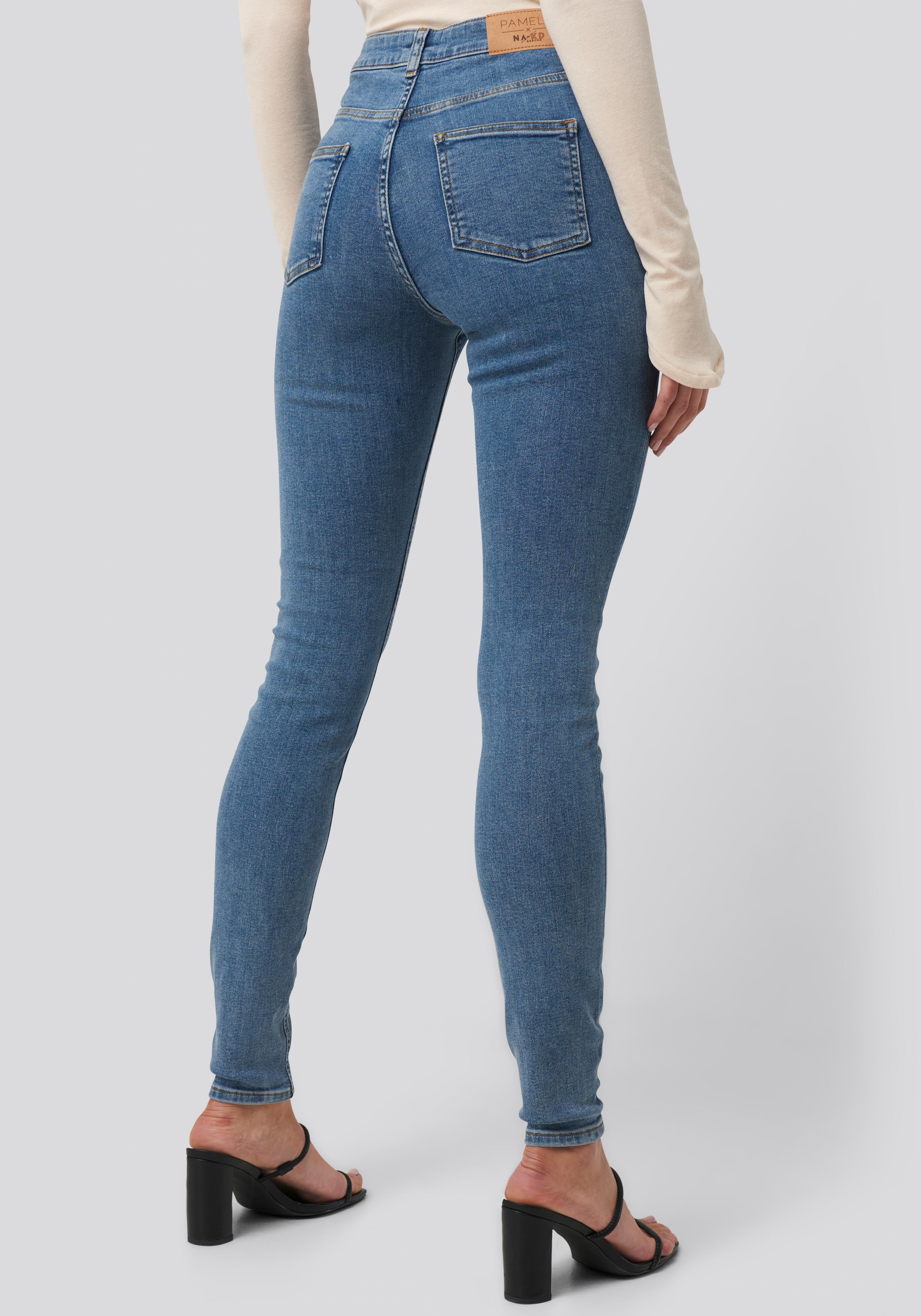 Pamela Reif X NA KD Skinny fit Jeans »Pamela Reif x NA KD« High Waist Jeans, nachhaltig produziert & zertifiziert online kaufen | OTTO