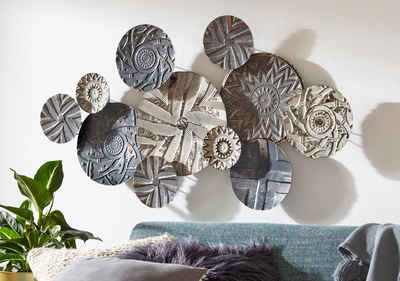 Home affaire Wanddekoobjekt »Caritan«, Wanddeko, Wanddekoration, aus Metall, Used-Optik