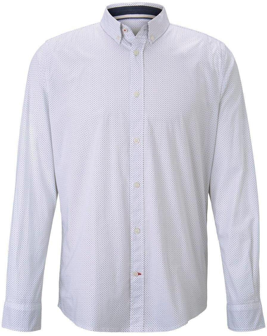 Tom Tailor Denim Herren Freizeithemd Allover Print Slim Fit