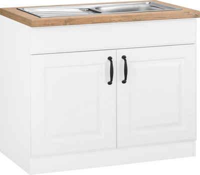 wiho Küchen Spülenschrank »Erla« 100 cm breit mit Kassettenfront