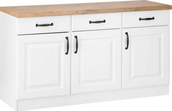 wiho Küchen Unterschrank »Erla« 150 cm breit mit Kassettenfront