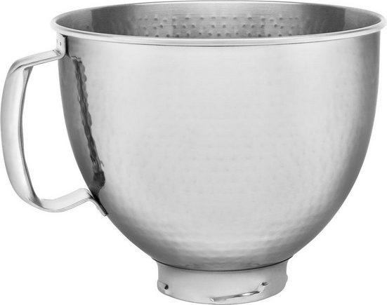 KitchenAid Küchenmaschinenschüssel »5KSM5SSBHM«, Edelstahl, gehämmert mit Griff