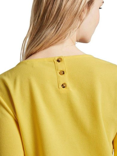 TOM TAILOR Denim 3/4-Arm-Shirt ist hinten länger geschnitten als vorne