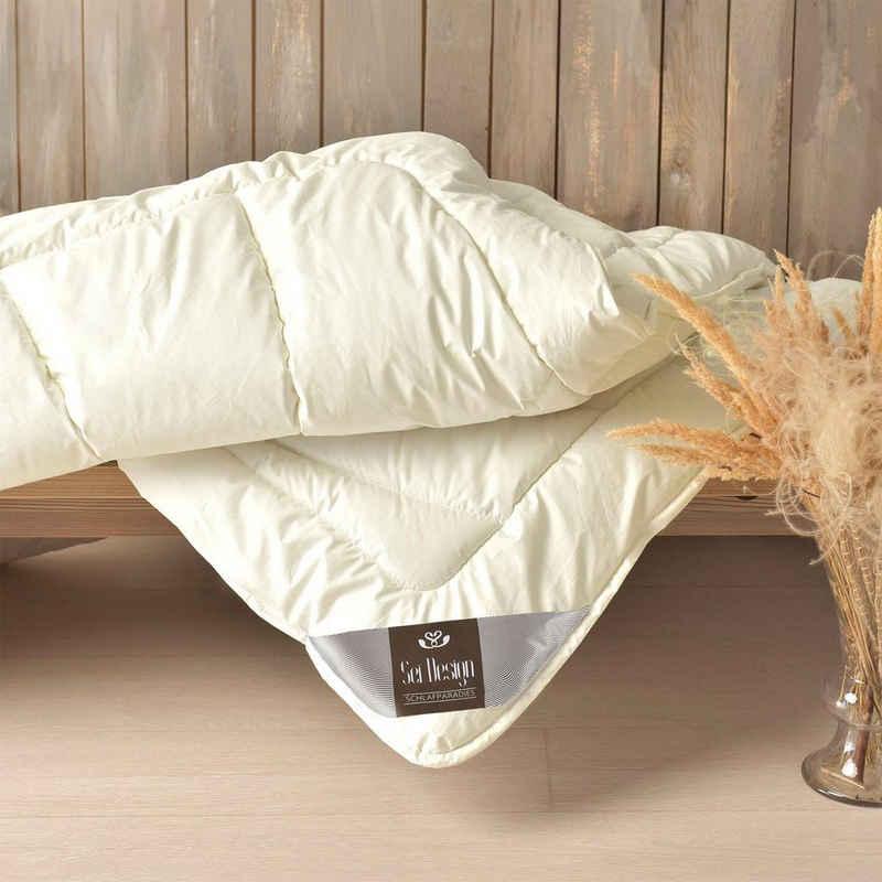 Naturfaserbettdecke, »WOOL Premium«, SEI Design, Füllung: 100% echter naturbelassener Schurwolle, Bezug: 100% Baumwolle