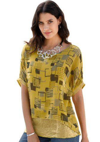 INSPIRATIONEN Ilgi marškiniai im lässigen asimetrišk...