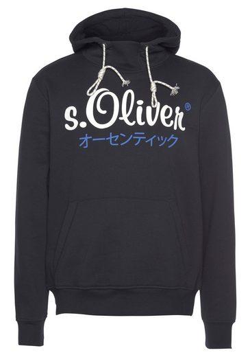 s.Oliver Kapuzensweatshirt mit Logofrontprint