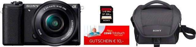 Systemkameras - Sony »ILCE 5100LB« Systemkamera (16 50 mm Zoomobjektiv, 24,3 MP, NFC, WLAN (Wi Fi)  - Onlineshop OTTO