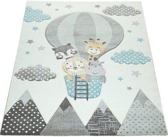 Kinderteppich »Cosmo 343«, Paco Home, rechteckig, Höhe 18 mm, Kinder Design, niedliches Motiv in Pastell-Farben