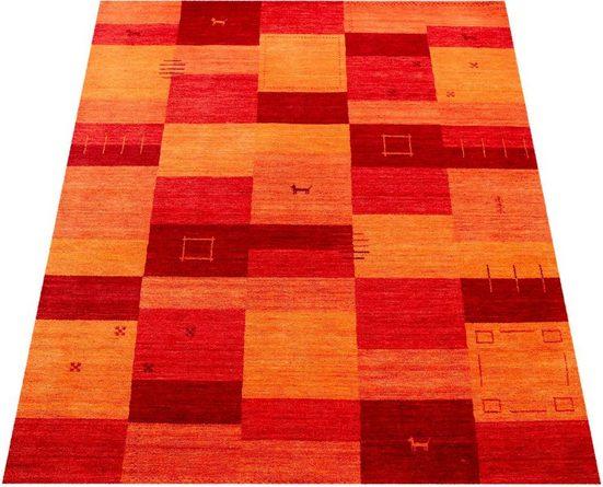Teppich »Gabbeh 304«, Paco Home, rechteckig, Höhe 14 mm, handgefertigter Kurzflor, Gabbeh-Stil, Wohnzimmer