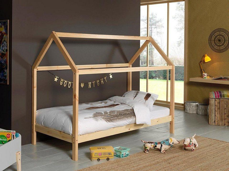 Kinder-Hausbett »Dallas« von Vipack in Natur oder Weiss