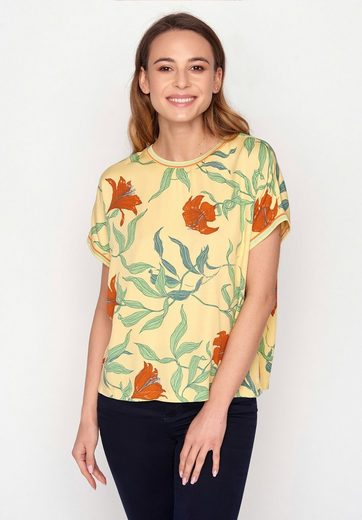 GreenBomb T-Shirt »Choice Blooming Lily«
