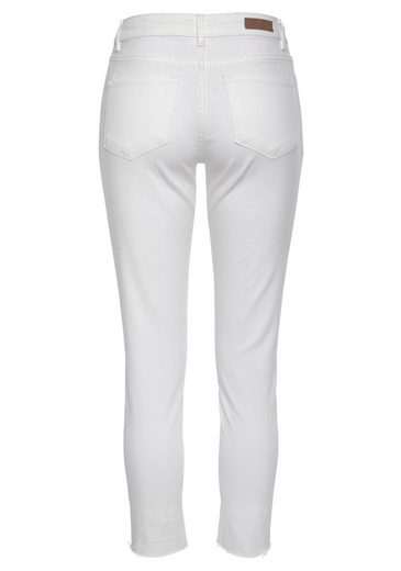 OPUS Ankle-Jeans  Elma  offener, leicht ausgefranster Hosensaum