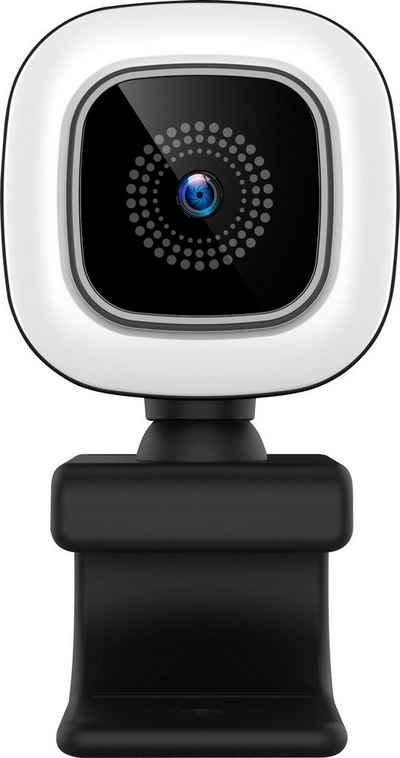 Hyrican »HYRICAN ST-CAM554 UHD Webcam 3840x2160 Pixel mit Ringlicht 12MP« Webcam (4K Ultra HD)