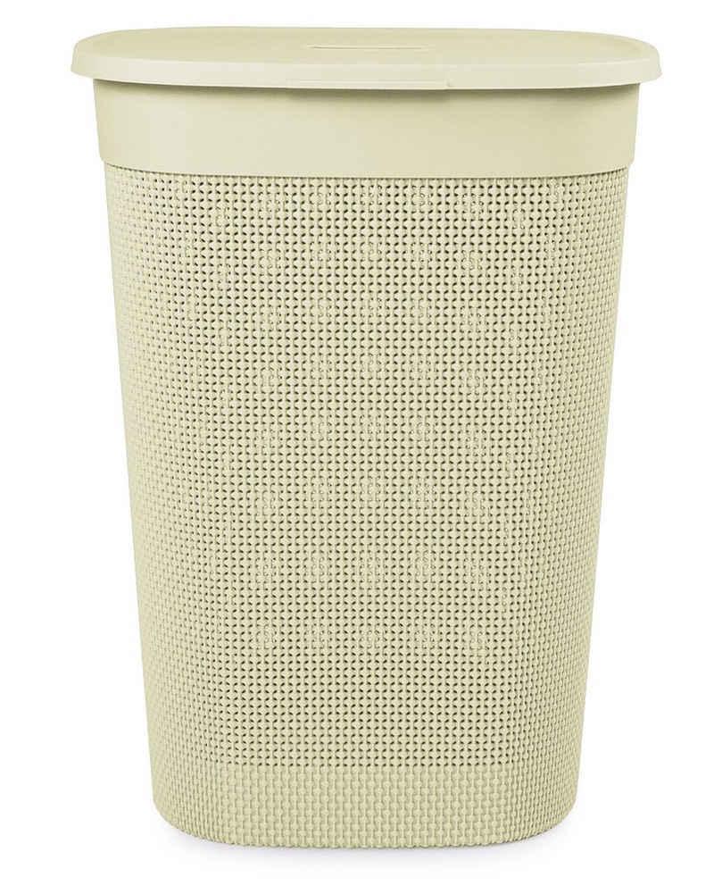 ONDIS24 Wäschebox »Wäschebox Wäschekorb Filo, gut belüftet, neues italienisches Design, edle Verarbeitung aus Kunststoff 55 Liter«
