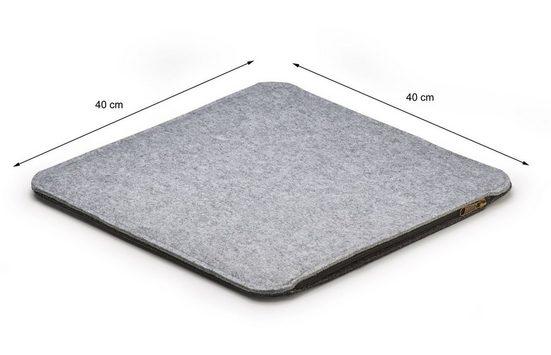 AMARE Sitzkissen »4er-Set Filzkissen 40 cm«