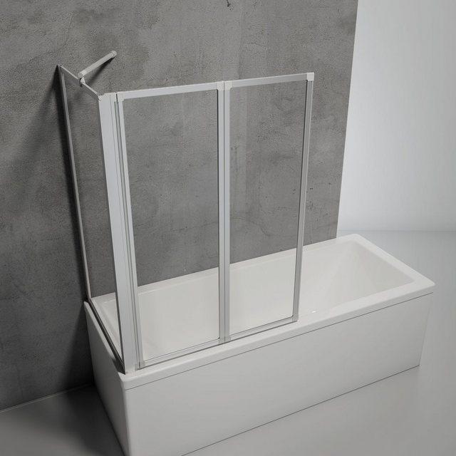 Badewannen und Whirlpools - SCHULTE Komplett Set Badewannenfaltwand »Komfort«, 3 teilig, zum Kleben oder Bohren  - Onlineshop OTTO