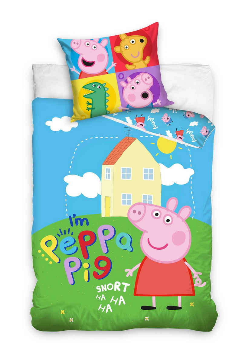 Bettwäsche »Peppa Pig Bettwäsche Schweinchen Peppa 135 x 200 cm«, Peppa Pig