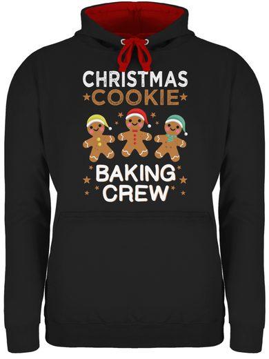 Shirtracer Hoodie »Christmas Cookie Baking Crew - 3 Kekse - Weihnachten & Silvester - Unisex Damen & Herren Kontrast Hoodie«