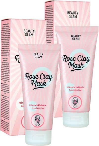 BEAUTY GLAM Gesichtspflege-Set »Rose Clay Mask«, 2-tlg.