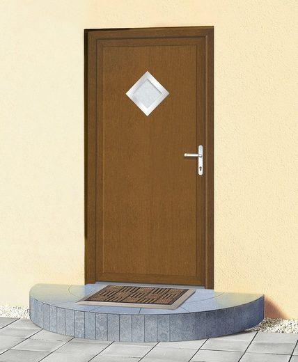 KM MEETH ZAUN GMBH Mehrzweck-Haustür »KT32«, BxH: 108 x 208 cm, braun, in 2 Varianten