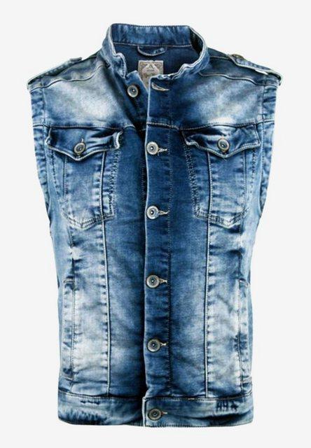 Cipo & Baxx Jeansweste mit dezenter Waschung   Bekleidung > Westen > Jeanswesten   Cipo & Baxx