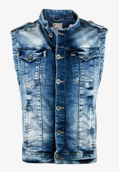Cipo & Baxx Jeansweste mit dezenter Waschung