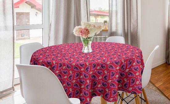 Abakuhaus Tischdecke »Kreis Tischdecke Abdeckung für Esszimmer Küche Dekoration«, Paisley Blumenvolkskunst auf Streifen