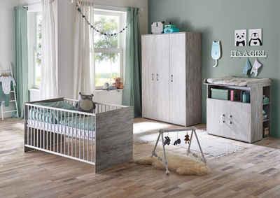 arthur berndt Babyzimmer-Komplettset »Isabella«, (Set, 4-St), Made in Germany; mit Kinderbett, Regal, Schrank und Wickelkommode