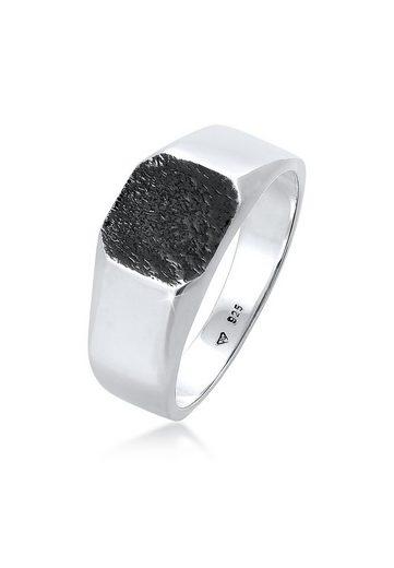 Kuzzoi Siegelring »Basic Siegelring Herren Quadrat Matt 925 Silber«