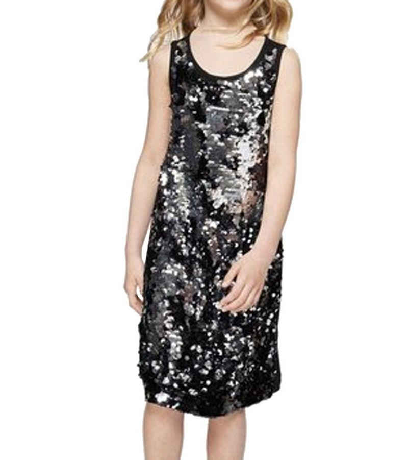 Sommerkleid »ARIZONA Träger-Kleid schimmerndes Mädchen Pailletten-Kleid Freizeit-Kleid Schwarz«