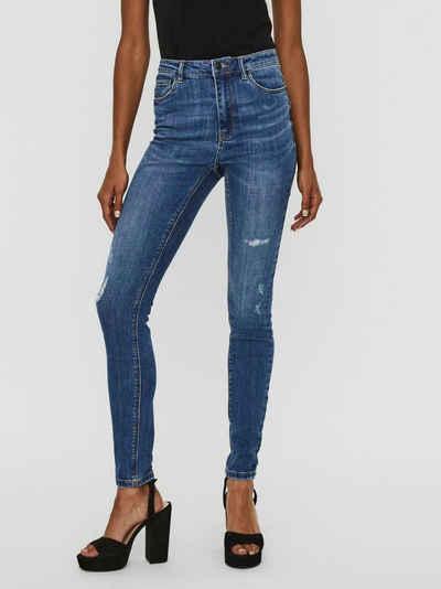 Vero Moda High-waist-Jeans »VMSOPHIA« mit kleinen Destroyed Effekten