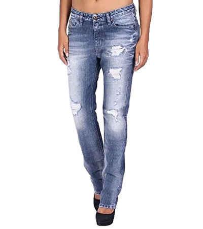 Diesel Regular-fit-Jeans »DIESEL Rizzo Jeans lässige Damen Denim-Hose mit Used-Effekten Freizeit-Hose Blau«