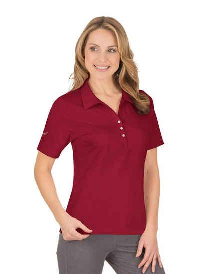 Trigema Poloshirt aus Baumwolle mit Swarovski® Kristallen