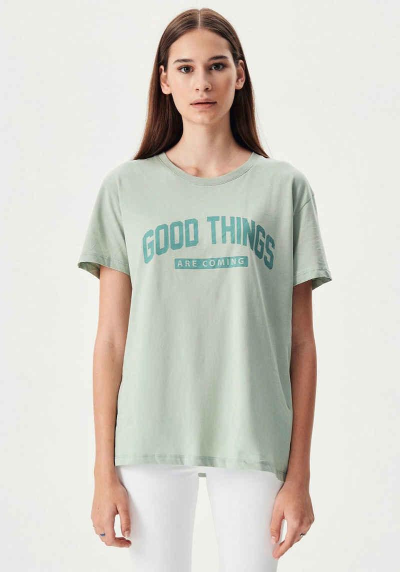 LTB Kurzarmshirt »BEFEVO« bedruckt mit motivierendem Wording im Brustbereich