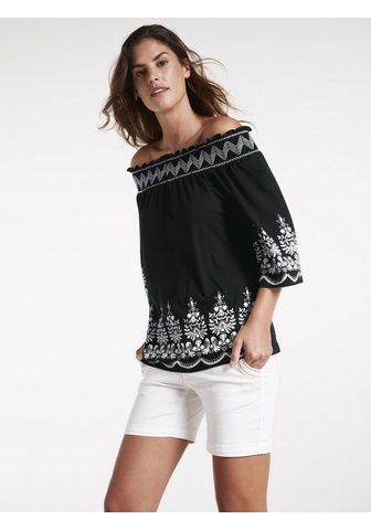 LINEA TESINI by Heine Shirt su Carmen-Ausschnitt