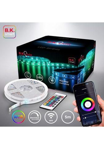 B.K.Licht LED-Streifen 150-flammig 5m Smart Home...