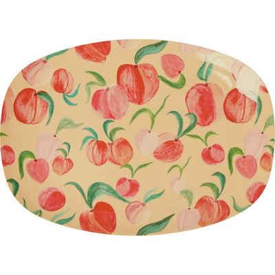 """rice Servierplatte »Melamin Servier-Teller """"Peach"""", 23x16,5cm«"""