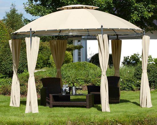 KONIFERA Pavillon mit Seitenteilen »Tino«, BxL: 350 x 350 cm