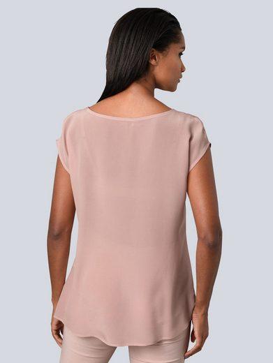 Alba Moda Bluse aus reiner Seide