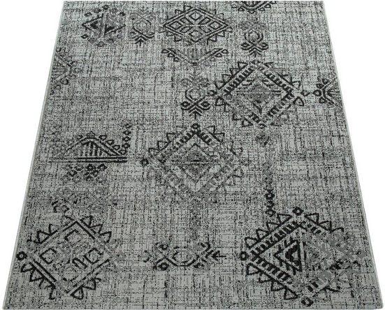 Teppich »Coco 204«, Paco Home, rechteckig, Höhe 4 mm, Flachgewebe, In- und Outdoor geeignet, Wohnzimmer