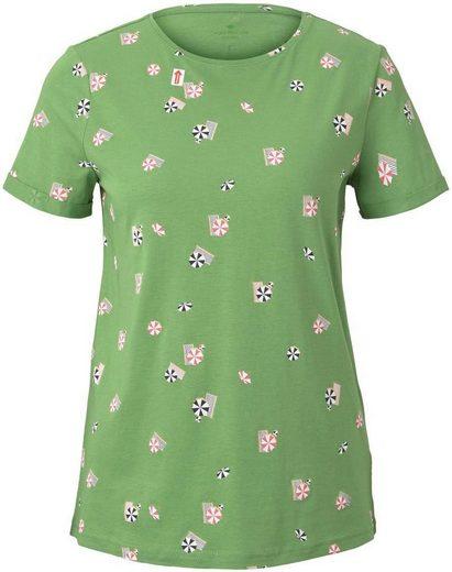 TOM TAILOR T-Shirt mit sommerlichem Allover-Print
