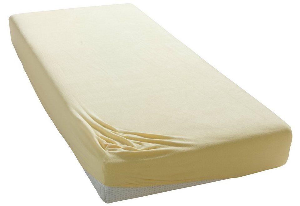 Spannbettlaken Microfaser Fleece My Home Mit Flauschiger