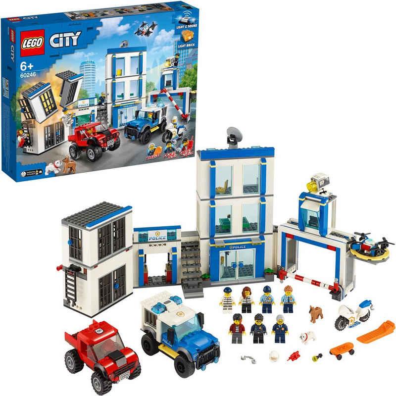 LEGO® Konstruktionsspielsteine »Polizeistation (60246), LEGO® City«, (743 St)
