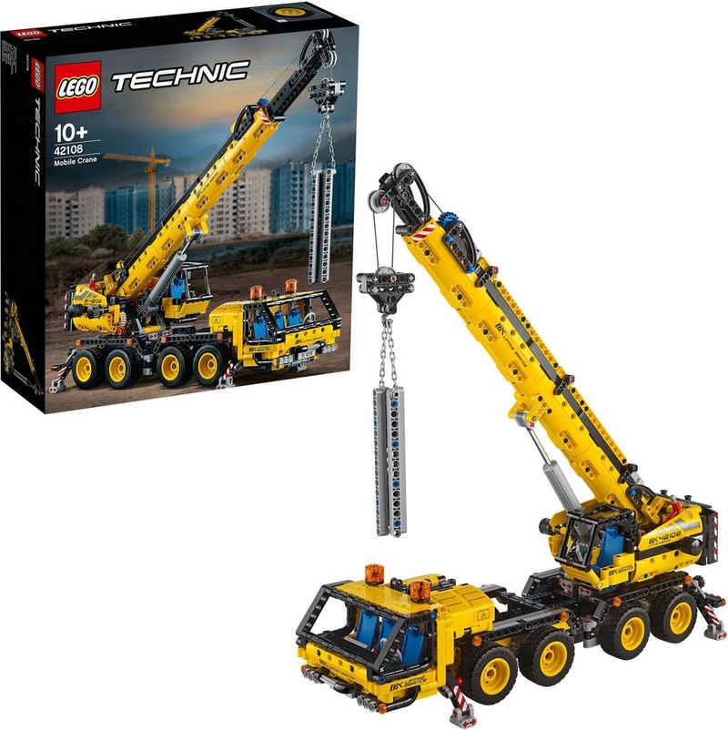 LEGO® Konstruktionsspielsteine »Kran-LKW (42108), LEGO® Technic«, (1292 St), Made in Europe