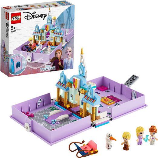 LEGO® Konstruktionsspielsteine »Annas und Elsas Märchenbuch (43175), LEGO® Disney Princess™«, (133 St)