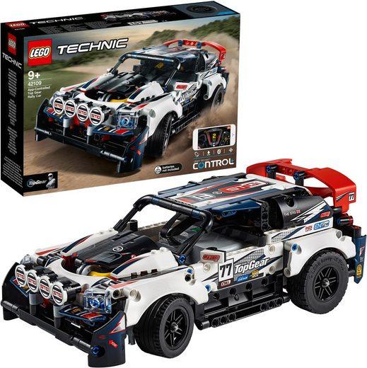 LEGO® Konstruktionsspielsteine »Top-Gear Ralleyauto mit App-Steuerung (42109), LEGO® Technic«, (463 St)