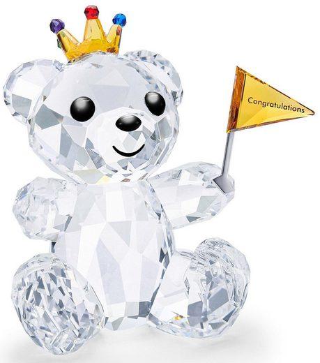 Swarovski Dekofigur »Kris Bär – Herzlichen Glückwunsch, 5492229« (1 Stück), Swarovski® Kristall mit schwarzem Emaille